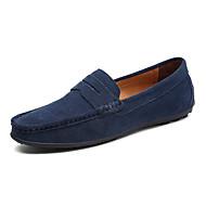 baratos Sapatos Masculinos-Homens Couro Ecológico Primavera / Outono Conforto Mocassins e Slip-Ons Castanho Escuro / Azul Real / Verde Escuro