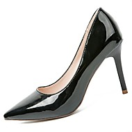 abordables -Femme Chaussures Polyuréthane Hiver Automne Confort Chaussures à Talons Talon Aiguille Bout pointu pour Décontracté Noir Beige Rose