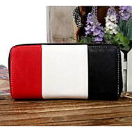 Women Bags Cowhide Wallet Buttons for Casual All Season Dark Blue Red Black White
