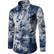 Majica Muškarci - Vintage Kinezerije Vikend Klub Cvjetni print Kineski ovratnik Slim Lan