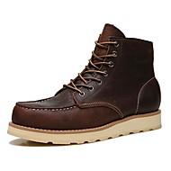 baratos Sapatos de Tamanho Pequeno-Homens Fashion Boots Seda / Pele Napa Outono / Inverno Botas Botas Curtas / Ankle Preto / Café