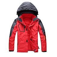 男女兼用 3-in-1 ジャケット アウトドア 冬 防風 防雨 耐久性 通気性 保温処理 3-in-1 ジャケット 冬物ジャケット フルコンシールファスナー ランニング キャンピング&ハイキング スノーウォーキング キャンプ/ハイキング/ケイビング クロスカントリー