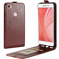 billiga Mobil cases & Skärmskydd-fodral Till Xiaomi Redmi not 5A / Redmi 4X Korthållare / Lucka Fodral Enfärgad Hårt PU läder för Redmi Note 5A / Redmi 5A / Xiaomi Redmi 4