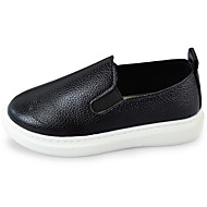cheap Girls' Shoes-Girls' Shoes Leather Spring Fall Comfort Loafers & Slip-Ons for Casual White Black Red