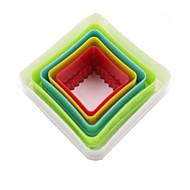Bageværktøj Plastik Bagning Værktøj For Brød / til Kage Kvadrat Cake Moulds 1set