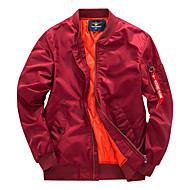 Herre Afslappet/Hverdag Pea coats - Ensfarvet