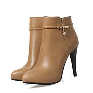 55c13908 Mujer Zapatos PU Otoño / Invierno Confort / Innovador Botas Tacón alto Dedo  Puntiagudo Botines / Hasta el Tobillo Remache Negro / Gris /