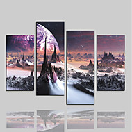 halpa Tulosteet-Canvastaulu Klassinen Rustiikki Moderni, 4 paneeli Kangas Horizontal Painettu Wall Decor Kodinsisustus