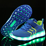 cheap Kids' Shoes-Boys' Shoes Net / Fabric Spring / Winter Comfort / Light Up Shoes Sneakers Magic Tape / LED for Blue / Pink / Black / Red
