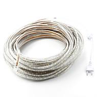 זול רצועות נורות LED-30m 1800SMD נוריות לבן חם / לבן / אדום ניתן לחיתוך / עמיד במים 220 V / 5050 SMD