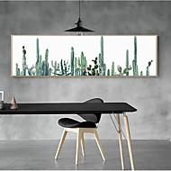 billige Innrammet kunst-Botanisk Olje Maleri Veggkunst,Metall Materiale med ramme For Hjem Dekor Rammekunst Stue Soverom