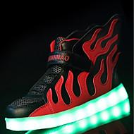 tanie Obuwie chłopięce-Dla chłopców Obuwie Materiał do wyboru / Tiul / Materiał Wiosna / Zima Comfort / Świecące buty Tenisówki Szurowane / LED na Black / Red /