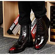 olcso -Férfi cipő Bőr Tél Ősz Kényelmes Katonai csizmák Csizmák Magas szárú csizmák mert Hétköznapi Fekete Sötétbarna Burgundi vörös