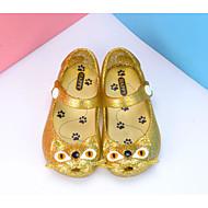 tanie Obuwie dziewczęce-Dla dziewczynek Buty Skóra PVC Wiosna Jesień Comfort Sandały Spacery Klamra na Casual Gold Black Różowy