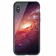 billiga Mobil cases & Skärmskydd-fodral Till Apple iPhone X iPhone 8 Mönster Skal Himmel Hårt Härdat glas för iPhone X iPhone 8 Plus iPhone 8 iPhone 7 Plus iPhone 7