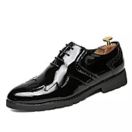 cheap Shoes Trends-Men's Shoes Leather Spring Fall Oxfords for Casual Black Light golden