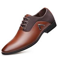 Недорогие -Для мужчин обувь Оксфорд Весна Осень Удобная обувь Туфли на шнуровке для Для вечеринки / ужина Черный Темно-русый Темно-коричневый