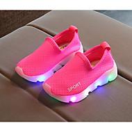 baratos Sapatos de Menina-Para Meninas Sapatos Tecido Primavera Conforto Mocassins e Slip-Ons para Pêssego / Verde / Rosa claro
