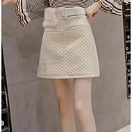 Žene A kroj Ležerne prilike Suknje - Jednobojni