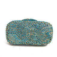 cheap Bags-Women's Bags Glasses Metal Evening Bag Crystal Detailing for Wedding Event/Party Spring Fall Blue
