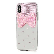 billiga Mobil cases & Skärmskydd-fodral Till Apple iPhone X iPhone 8 Plus Strass Mönster Fodral Blomma Hårt PU läder för iPhone X iPhone 8 Plus iPhone 8 iPhone 7 Plus
