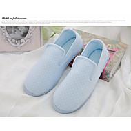 お買い得  レディーススリッパ&フリップフロップ-女性用 靴 繊維 春 秋 コンフォートシューズ スリッパ&フリップ・フロップ ローヒール のために ピンク ライトブルー