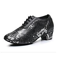 billige Moderne sko-Moderne Annet dyreskinn Joggesko Trimmer Lav hæl Svart og Sølv Svart/Rød Kan spesialtilpasses