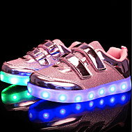 cheap Girls' Shoes-Girls' Shoes Leatherette Customized Materials Nubuck leather Winter Spring Light Up Shoes Comfort Sneakers LED Magic Tape for Casual