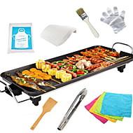 Χαμηλού Κόστους Συσκευές Κουζίνας-Ηλεκτρική ψησταριά Κράμα αλουμινίου-μαγνησίου θερμική κουζίνες 220V 1400W Συσκευή κουζίνας