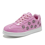 cheap Girls' Shoes-Girls' Boys' Shoes Patent Leather Spring Fall Comfort Sneakers for Casual Gold White Black Silver Pink