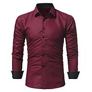 Majica Muške,Vintage Praznik Color block-Dugi rukav Kragna košulje-Zima Srednje Pamuk