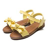 お買い得  フラワーガールシューズ-女の子 靴 PUレザー 春 夏 アイデア フラワーガールシューズ サンダル リボン 面ファスナー のために ドレスシューズ パーティー イエロー ピンク