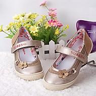 女の子 靴 レザーレット 春夏 コンフォートシューズ / フラワーガールシューズ フラット のために ゴールド / シルバー