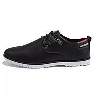 Homens sapatos Borracha Primavera Outono Conforto Oxfords para Ao ar livre Preto Marron Azul