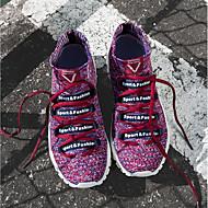 baratos Sapatos Masculinos-Homens Tricô Primavera / Outono Conforto Tênis Caminhada Verde / Branco / Preto / Khaki