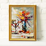 billige Innrammet kunst-Innrammet Oljemaleri Abstrakt Olje Maleri Veggkunst, Aluminium Legering Materiale med ramme Hjem Dekor Rammekunst Innendørs