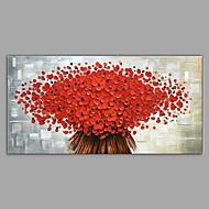 abordables -Peinture à l'huile Hang-peint Peint à la main - Paysage A fleurs / Botanique Classique Moderne Toile