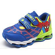 baratos Sapatos de Menino-Para Meninos sapatos Courino Primavera Outono Conforto Tênis para Casual Ao ar livre Azul Escuro Preto/Vermelho Azul Real