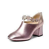 Mujer Zapatos Cuero de Napa Verano Confort Tacones Tacón Cuadrado Amarillo / Verde Réductions À Bas Prix Grande Vente Sortie LJQmc