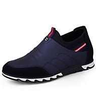 baratos Sapatos Masculinos-Sapatos de Condução Couro Ecológico Primavera / Outono Conforto Tênis Preto / Azul