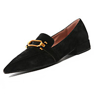 cheap Women's Slip-Ons & Loafers-Shoes PU Spring Fall Comfort Loafers & Slip-Ons Flat Heel Pointed Toe for Black Pink