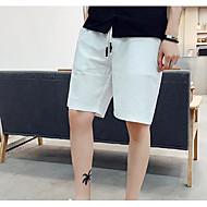 Pánské Vintage Bavlna Kraťasy Kalhoty - Jednobarevné Černá / Léto
