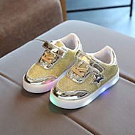 baratos Sapatos de Menino-Para Meninos / Para Meninas Sapatos Tule Primavera / Outono Conforto Tênis para Dourado / Prata / Rosa claro