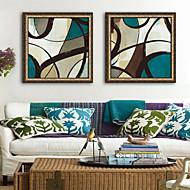 baratos Quadros com Moldura-Abstrato Formas Ilustração Arte de Parede,PVC Material com frame For Decoração para casa Arte Emoldurada Sala de Estar Quarto Cozinha