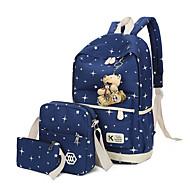 Dame Tasker Polyester Taskesæt 3 stk. Taske sæt Knapper for Afslappet Alle årstider Blå Grøn Sort Lyserød Lilla