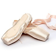 cheap Ballet Shoes-Ballet Silk Flat Customized Heel Pink/White Customizable