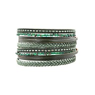 Women's Wrap Bracelet Leather Bracelet Leather Ladies Vintage Bohemian Boho Elegant Bracelet Jewelry Turquoise For Daily Going out