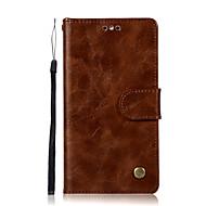 billiga Mobil cases & Skärmskydd-fodral Till Huawei Y6 (2017)(Nova Young) Y5 II / Honor 5 Korthållare Plånbok med stativ Lucka Fodral Ensfärgat Hårt PU läder för Huawei