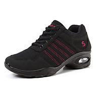 baratos Sapatilhas de Dança-Mulheres Tênis de Dança Arrastão / Courino Têni Recortes Sem Salto Personalizável Sapatos de Dança Rosa / Preto / Prata / Black