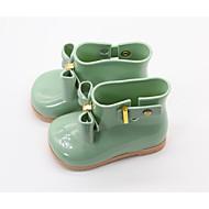 baratos Sapatos de Menina-Para Meninas Sapatos Pele PVC / Lona Primavera / Outono Conforto / Botas de Chuva Botas para Vermelho / Amêndoa / Verde Claro